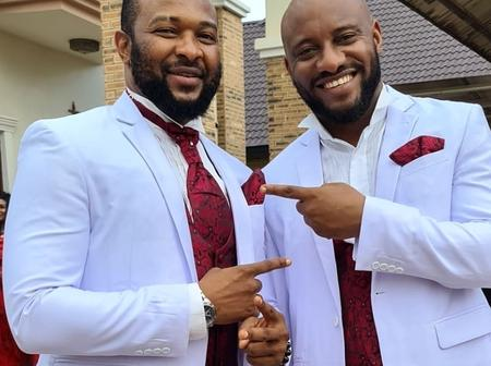 See Photos Of Yul Edochie, Zubby Micheal, Destiny And Many Others With Chigozie Atuanya On Movie Set