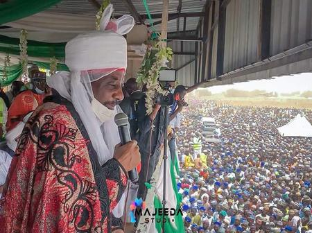 Emir Sanusi addresses massive crowd in sokoto state [Photos]