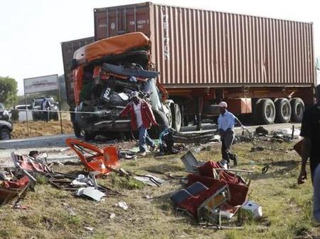 Tragedy as Dangote truck kills 14 passengers, including 5 children in Kogi