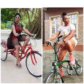 Meet The Beautiful Nigerian Musician Who Loves Riding Bicycles (Photos)