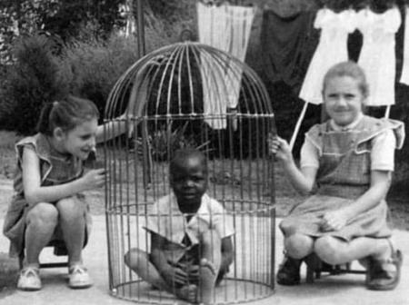 How some of our ancestors were kept in human zoos