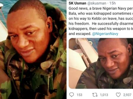 After He Was Kidnapped, Read What This Brave Soldier Did To Escape From The Kidnappers