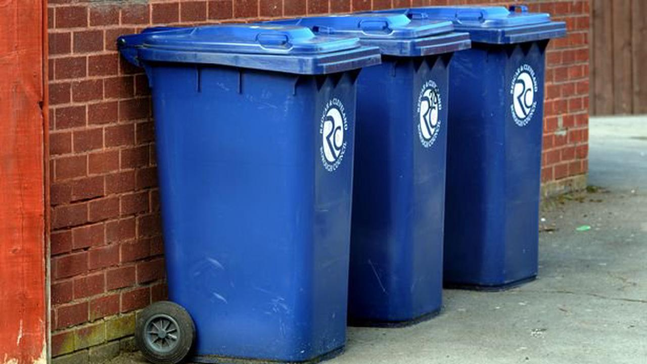 Some Teesside residents could be given a free blue bin as part of recycling drive