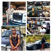 Photos Of Davido, D.J. Cuppy, Wizkid, Mr. P, Tekno, And Others Posing With Their Expensive Cars