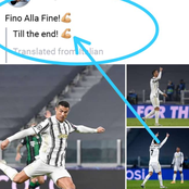 Hours After Juventus Nearly Escaped A Defeat Against Ferencravos, See What Cristiano Ronaldo Posted