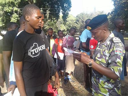 55 Youths Arrested for Presenting Fake KDF Calling Letters at RTS Eldoret