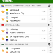 Wednesday 14th Top Analysis including UEFA Champions League Tips