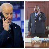 Details Of The  Call Between President Kenyatta And US President Joe Biden