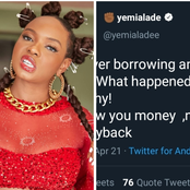 After Yemi Alade Said She Would Stop Lending People Money, See What Fans Told Her