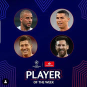 Here are the nominees for the champions league player of the week