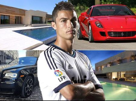 Popular Footballer Cristiano Ronaldo's worth, houses and cars on display