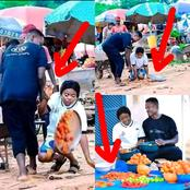 """""""God Punish Poverty""""- Reactions As Pre-wedding Photos Of Tomatoes Seller And Wheelbarrow Man Surfaces Online"""