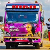 What Sofia of Maria Said After She Spotted This Matatu With Her Picture