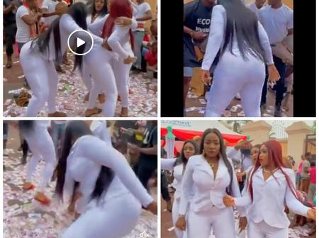 VIDEO: See What These Beautiful Ladies Did to Nigeria Currency That Made People Blast Them