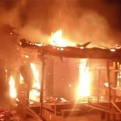 Fire Burns Popular Nigeria Market with Valuables That Worth Millions Of Naira.