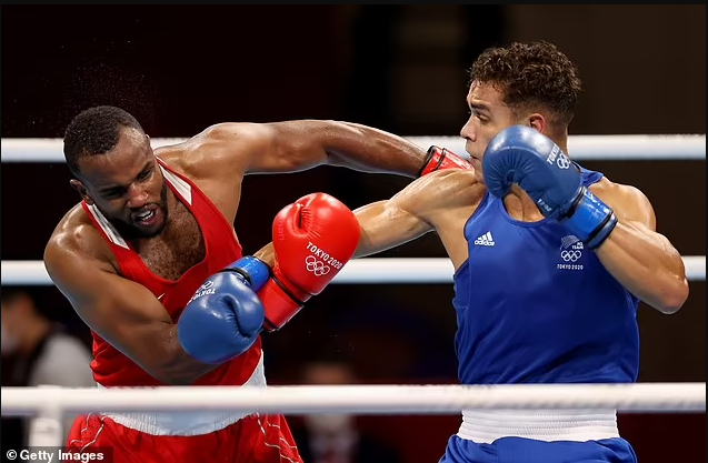 Tokyo Olympics: Morocco heavyweight Youness Baalla appears to bite New Zealand