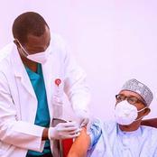 President Muhammadu Buhari And Vice President Yemi Osinbajo Vaccinated