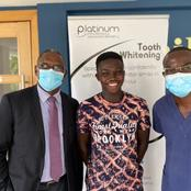 Joshua Ayinga smiles again after losing teeth in car accident