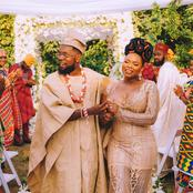 Mixed Reactions As Patoranking Weds Yemi Alade In Beautiful Wedding Ceremony Today (See Photos)