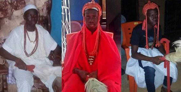 Meet The 15 Years Old Newly Crowned King in Ondo State. Prince Oloyede Adeyeoba. 1