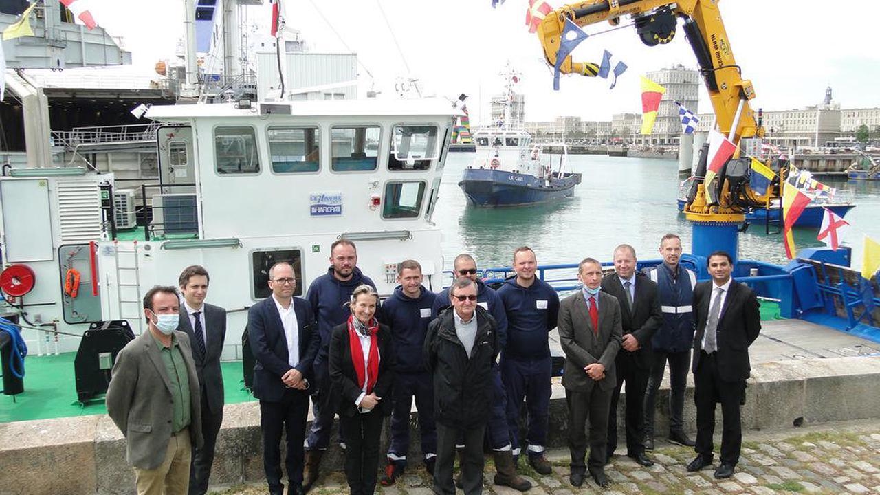 Le port du Havre baptise le Benthos, son nouveau navire polyvalent