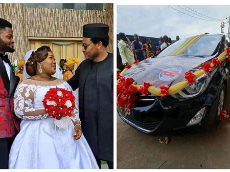 EeZee Concept Blessed Judikay With A Brand New Hyundai Elantra On Her Wedding Day(See Photos)