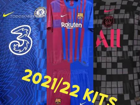 Official 2021/22 kits: See the Jersey Chelsea, Man U, Barca and other top clubs will use next season