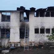 Just In: Fire outbreak at EC Office