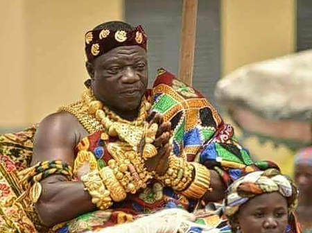 Check Out The Prominent Chief In Ghana Who Celebrated His Birthday Yesterday.