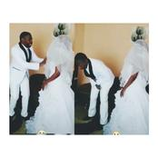 After The Groom Was Asked To Kiss His Bride, See The Funny Thing He Did, That Will Make You Laugh
