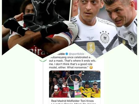 Update on Twitter Fight Between Aubamenyang and Kross Over Goal Celebration: See Who Ozil Supports.