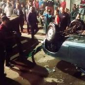 صور مؤلمة.. القصة الكاملة لسقوط سيارة في نهر النيل بأسيوط وغرق كل من فيها