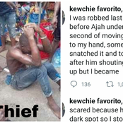 A Thief Robbed me, I chased him & he ran into a dark spot. See What happened later Lady narrates