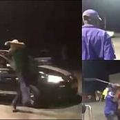 The fuel station attendants heavily beat up white man for calling them monkeys