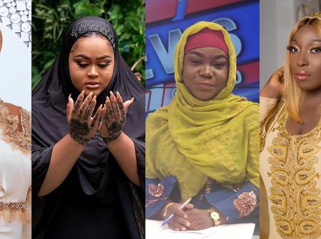 Are they all Muslims? See photos of Vivian Jill, Serwaa Amihere, Moesha and others in Muslim attires