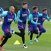 Barca players resume first training session after El Classico (See photos)