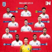 England U-25 Xi And Belgium U-25 Xi Players For Each Position