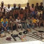Fifty-six suspected Cult Members caught in lagos
