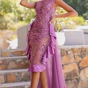 Ladies, look chic in any of this onion purple attires for your Owambe Party