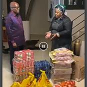 Video: See who brought Jacob Zuma some food parcels at Nkandla