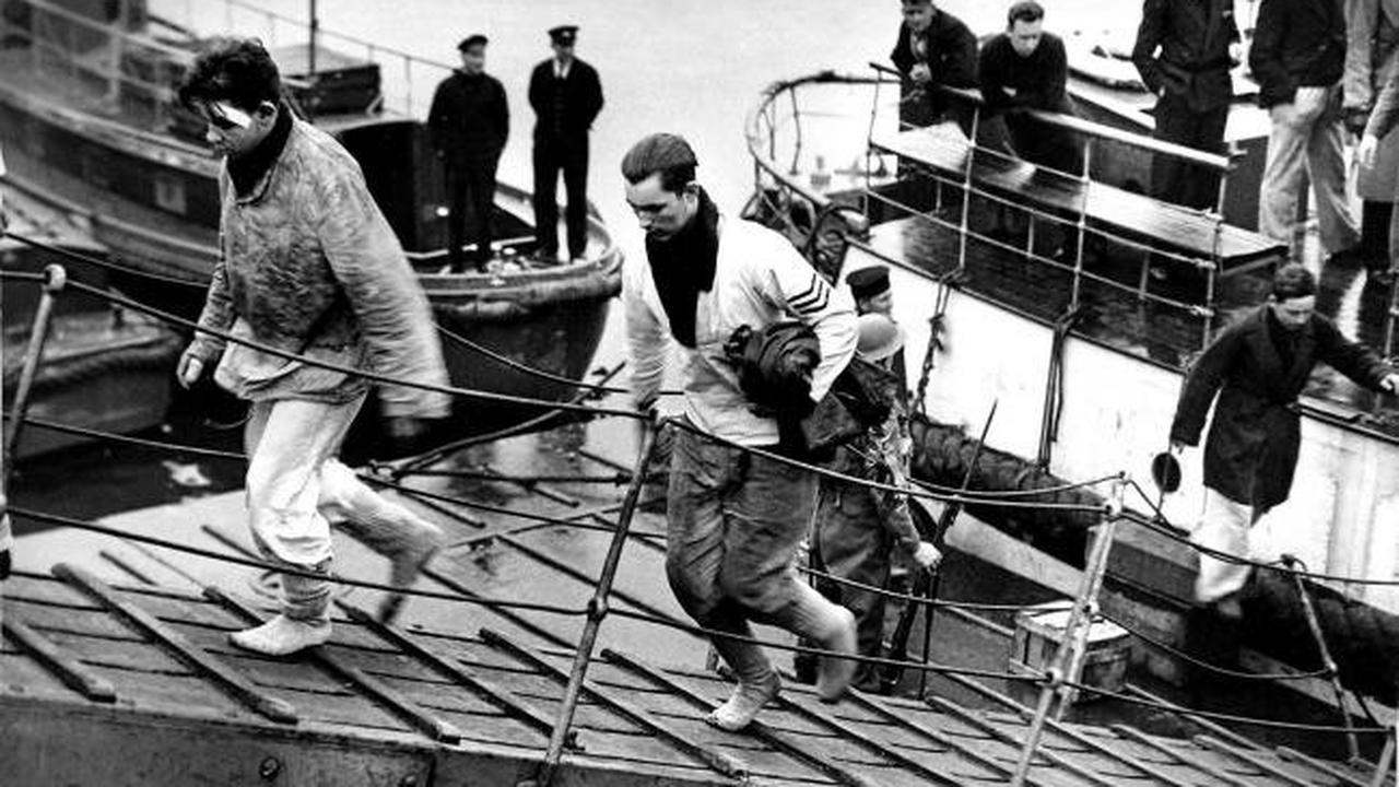 Remember When ... Bismarck survivors are landed in Greenock, 1941