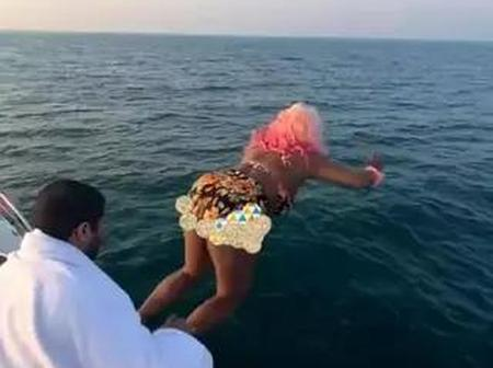 I'm Sorry Papa'' – DJ Cuppy Finally Apologies to Her Dad After She Jumped into The Sea (Photos)