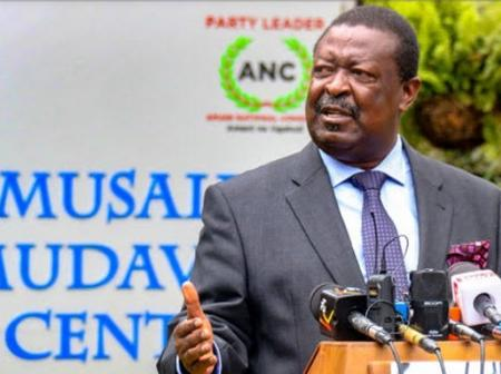 Mudavadi Trolled After Questioning DP Ruto's Stand On The BBI
