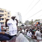 What Raila Said About Tudor Residents After Heckling