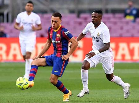 After Real Madrid Defeated Barca 3 - 1, See Photos Of Both Barca And Real Madrid Players In Action