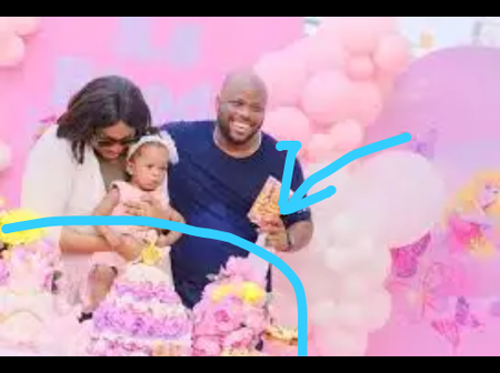 Check out the nice cake gospel singer Sinach used to celebrate her daughter's birthday.