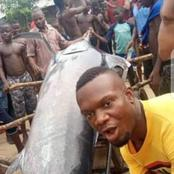 In Warri, Some Fishermen Caught Blue Marlin, A Fish Worth $2.6million And They Ate It