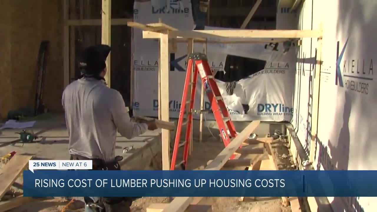 'It's going to negatively impact economic recovery:' Home builders struggle with soaring lumber prices