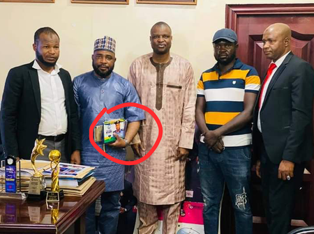 DCP Abba Kyari Received The Visit Of Hausa Actor, Aminu Sharif (Photos)
