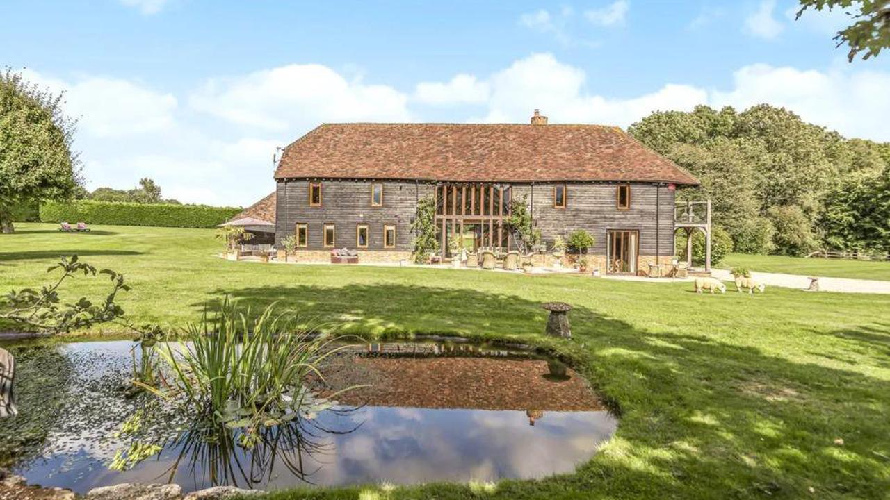 This beautiful barn conversion just outside of Winchester is up for £2.5 million